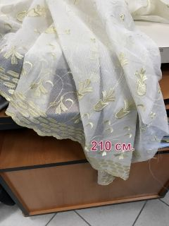 Fabric for curtains, Veil with ornaments